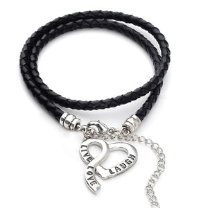 Vegan Leather - Live, Love & Laugh Bracelet - Roseandjoy