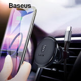 Magnetic Car Phone Holder For all Mobile Phones, Air Vent Mount  & Cable Organizer - Roseandjoy