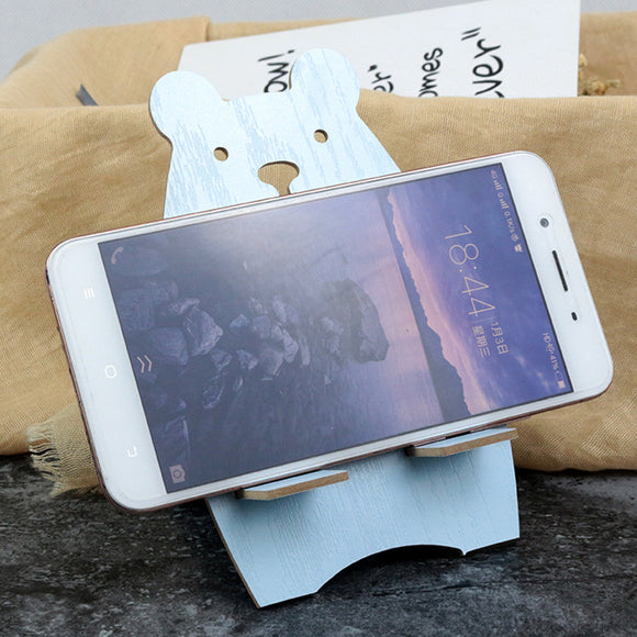 Wooden Bear Cartoon Mobile Phone stand