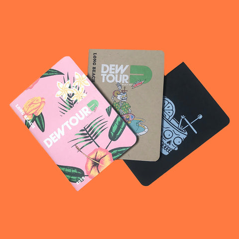Dew Tour Notebook (3 Pack)