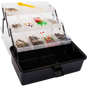 JARVIS WALKER TACKLE BOX 3 TRAY W/- 500 PIECES + KNIFE -  - Mansfield Hunting & Fishing - Products to prepare for Corona Virus