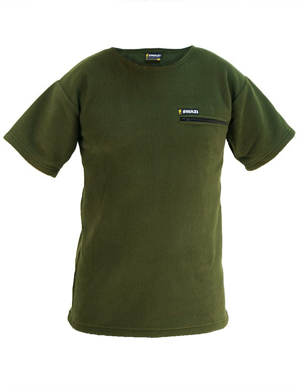 SWAZI BUSHMAN T ZIP POCKET SHIRT - BLACK OR OLIVE -  - Mansfield Hunting & Fishing - Products to prepare for Corona Virus