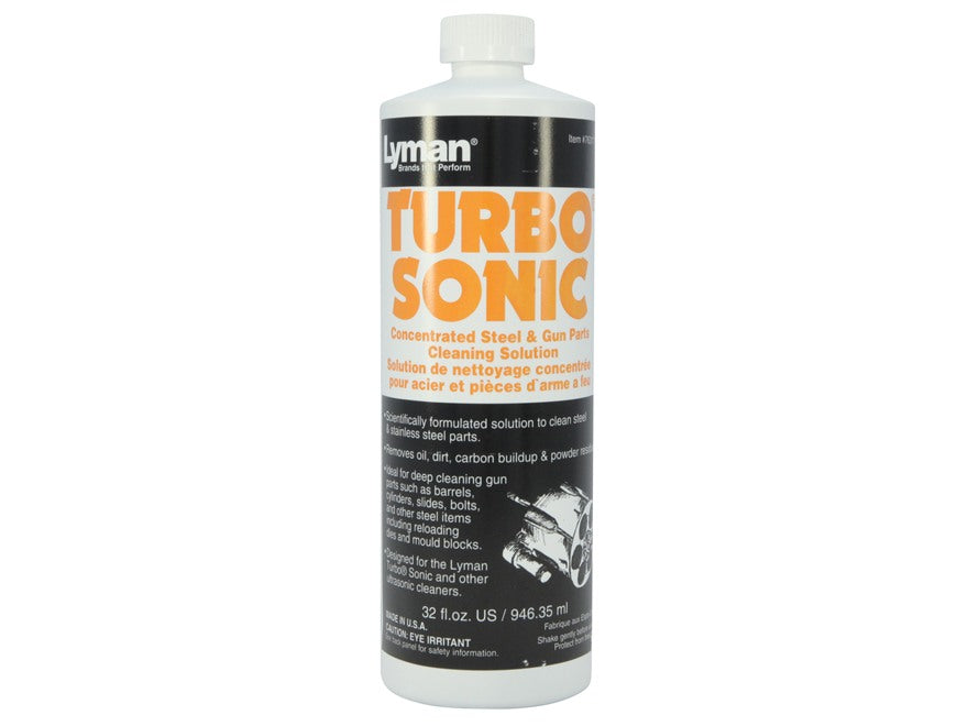 LYMAN TURBO SONIC GUN PARTS CLEANING SOLUTION 32 FL OZ -  - Mansfield Hunting & Fishing - Products to prepare for Corona Virus