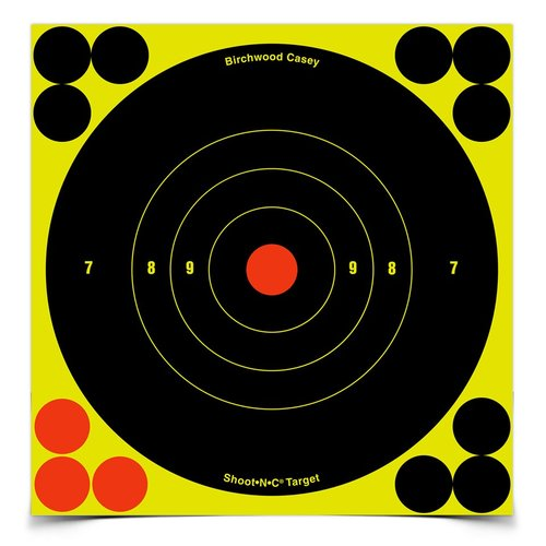 BIRCHWOOD CASEY SHOOT N C 12 BULLS-EYE TARGET 5 PACK -  - Mansfield Hunting & Fishing - Products to prepare for Corona Virus