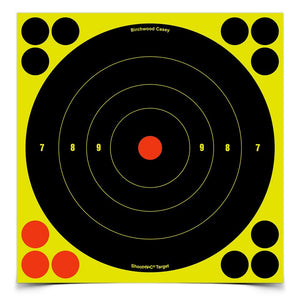 BIRCHWOOD CASEY SHOOT N C 8 BULLS-EYE TARGET 30 PACK -  - Mansfield Hunting & Fishing - Products to prepare for Corona Virus
