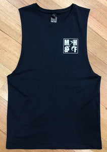MHF TEAM MUSCLE SINGLET NAVY -  - Mansfield Hunting & Fishing - Products to prepare for Corona Virus