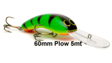 Oar-Gee Lure - 60mm Plow 5m - Assorted Colours -  - Mansfield Hunting & Fishing - Products to prepare for Corona Virus