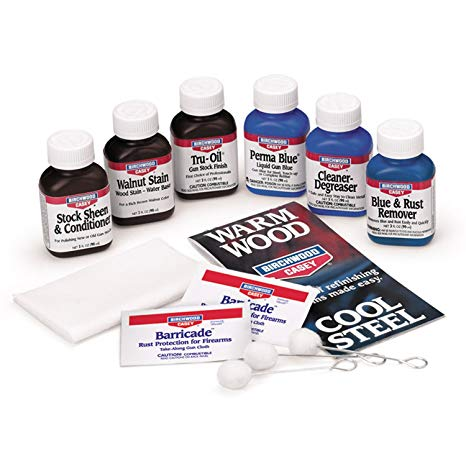 BIRCHWOOD CASEY DELUXE PERMA BLUE & TRU-OIL KIT