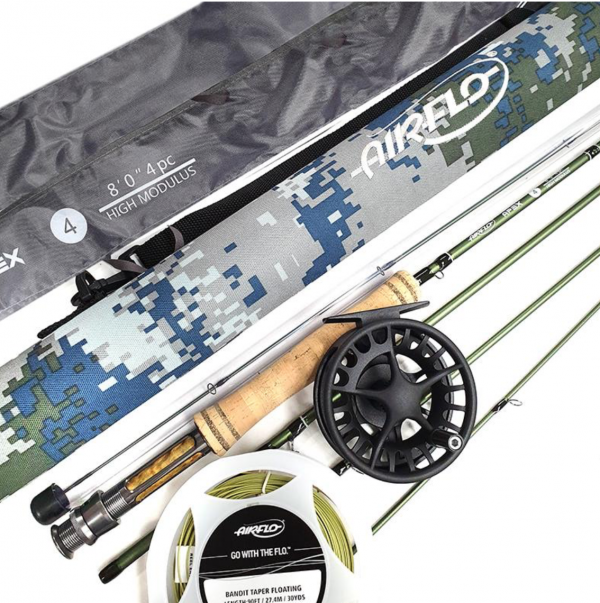 AIRFLO APEX 8FT #4 + LAMSON LIQUID 3/4 FLY REEL PACKAGE -  - Mansfield Hunting & Fishing - Products to prepare for Corona Virus