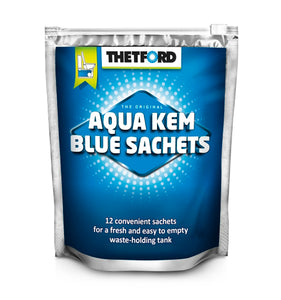 AQUA KEM BLUE SACHETS - 12 SACHETS TO A BAG -  - Mansfield Hunting & Fishing - Products to prepare for Corona Virus
