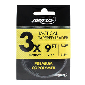 AIRFLO TACTICAL TAPERED LEADER 9FT - 3X - Mansfield Hunting & Fishing - Products to prepare for Corona Virus