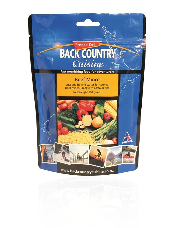 BACK COUNTRY CUISINE BEEF MINCE - 160GM -  - Mansfield Hunting & Fishing - Products to prepare for Corona Virus