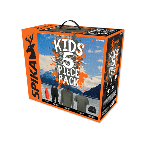 SPIKA KIDS 5 PIECE PACK BOX - 2 / OLIVE - Mansfield Hunting & Fishing - Products to prepare for Corona Virus