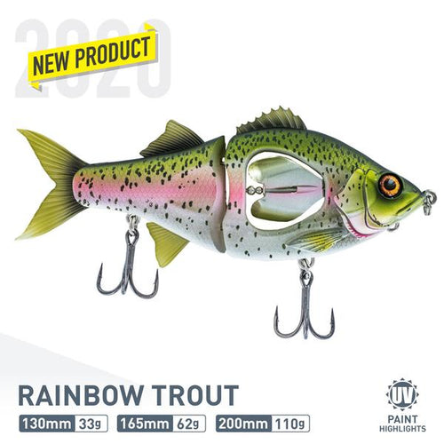 CHASEBAITS PROP DUSTER 130MM GLIDER - RAINBOW TROUT - Mansfield Hunting & Fishing - Products to prepare for Corona Virus