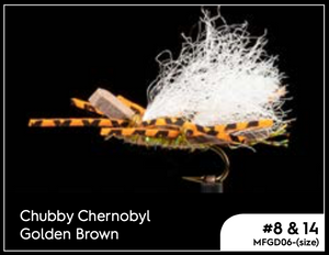 MANIC CHUBBY CHERNOBYL GOLDEN BROWN - #14 -  - Mansfield Hunting & Fishing - Products to prepare for Corona Virus