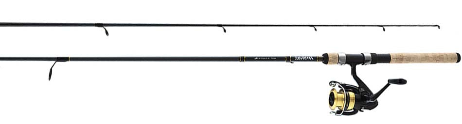 DAIWA D-SHOCK SPIN COMBO 4-10LB F602MLC 2 PIECE ROD -  - Mansfield Hunting & Fishing - Products to prepare for Corona Virus