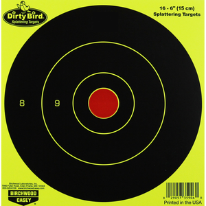 "BIRCHWOOD CASEY DIRTYBIRD YELLOW 6"" 16 SHEETS -  - Mansfield Hunting & Fishing - Products to prepare for Corona Virus"