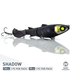CHASEBAITS DRUNKEN MULLET 130MM - SHADOW - Mansfield Hunting & Fishing - Products to prepare for Corona Virus