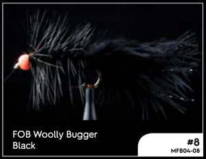 MANIC FOB WOOLLY BUGGER BLACK #8 -  - Mansfield Hunting & Fishing - Products to prepare for Corona Virus