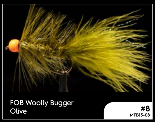 MANIC FOB WOOLLY BUGGER OLIVE #8 -  - Mansfield Hunting & Fishing - Products to prepare for Corona Virus