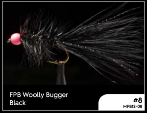 MANIC FPB WOOLLY BUGGER BLACK - #8 -  - Mansfield Hunting & Fishing - Products to prepare for Corona Virus