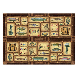 LG W/P PRINTED RUG - FISHING -  - Mansfield Hunting & Fishing - Products to prepare for Corona Virus