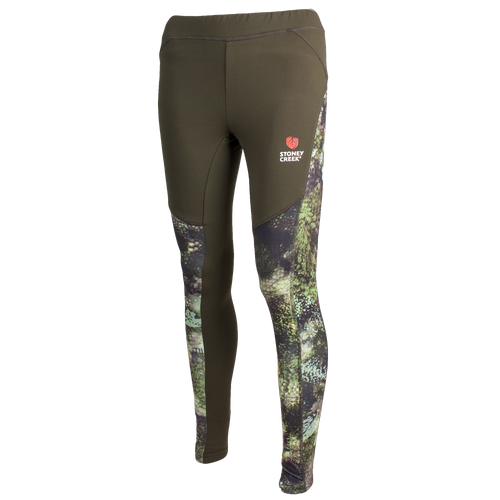 STONEY CREEK WOMENS ACTIVE TIGHTS TUATARA CAMO - 12 / BAYLEAF/TCF - Mansfield Hunting & Fishing - Products to prepare for Corona Virus