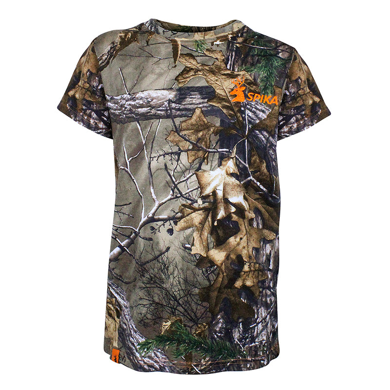 SPIKA Kids Cotton Trail Tee- Camo