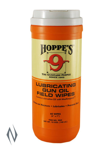 HOPPES LUBRICATING GUN OIL FIELD WIPES