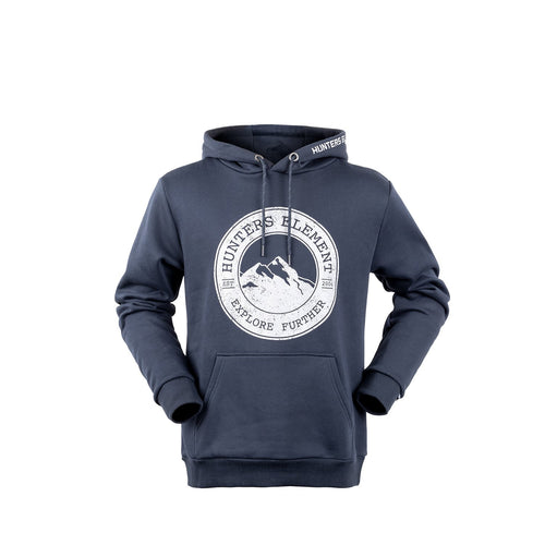 HUNTERS ELEMENT MOUNTAINSCAPE HOODIE - NAVY - S - Mansfield Hunting & Fishing - Products to prepare for Corona Virus