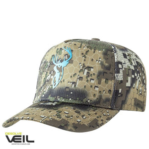 HUNTERS ELEMENT HEAT BEATER CAP BLUE STAG DESOLVE VEIL -  - Mansfield Hunting & Fishing - Products to prepare for Corona Virus