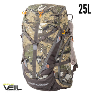 HUNTERS ELEMENT CANYON PACK 25LT - DESOLVE VEIL -  - Mansfield Hunting & Fishing - Products to prepare for Corona Virus