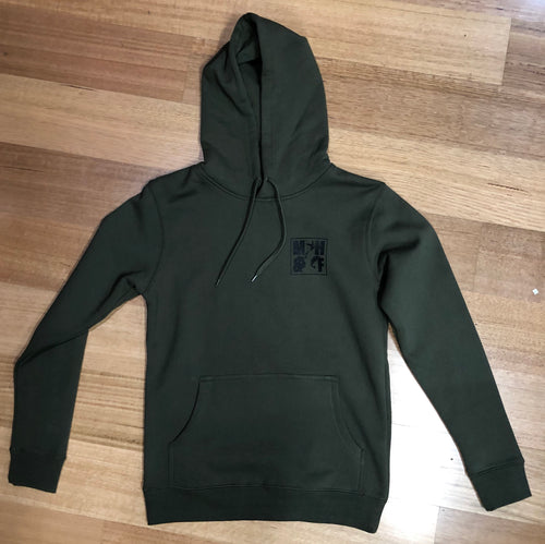 MHF HOODIE ARMY GREEN