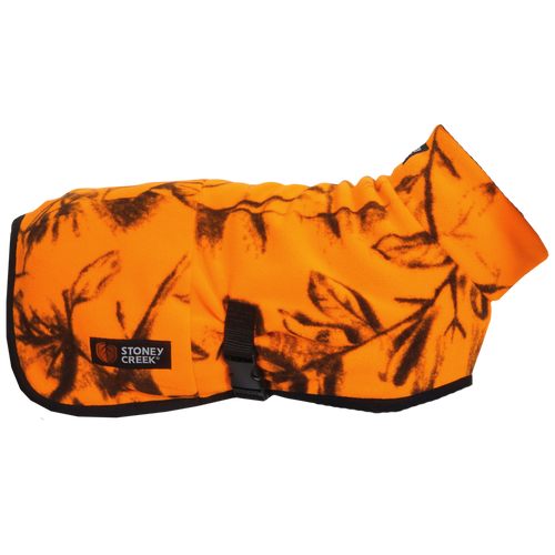 STONEY CREEK JONES DOG COAT FLEECE - S / BLAZE ORANGE - Mansfield Hunting & Fishing - Products to prepare for Corona Virus