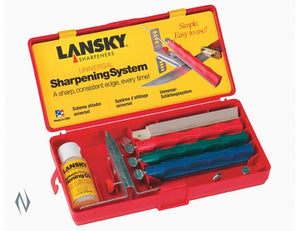 LANSKY SHARPENING SYSTEM UNIVERSAL 4 STONE -  - Mansfield Hunting & Fishing - Products to prepare for Corona Virus