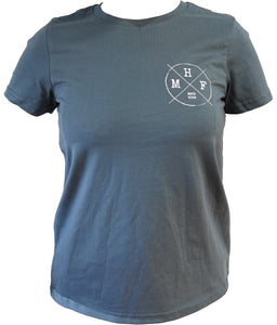 MHF WOMENS LIFESTYLE TEE - PETROL BLUE -  - Mansfield Hunting & Fishing - Products to prepare for Corona Virus