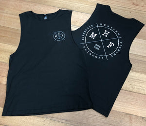 MHF MENS LIFESTYLE SINGLET - COAL - XS / COAL - Mansfield Hunting & Fishing - Products to prepare for Corona Virus