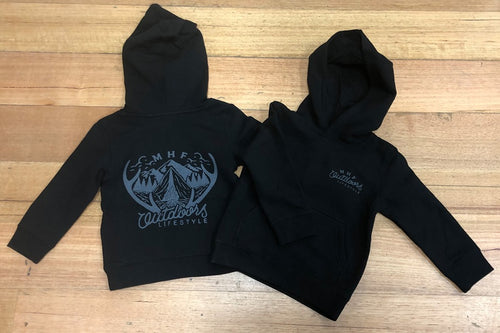 MHF KIDS ANTLER HOODIE - BLACK - 2 / BLACK - Mansfield Hunting & Fishing - Products to prepare for Corona Virus