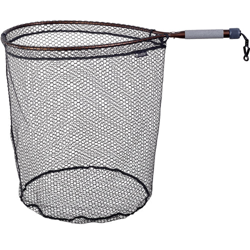 MCLEAN ANGLING RUBBER MESH BRONZE SHORT HANDLE NET -  - Mansfield Hunting & Fishing - Products to prepare for Corona Virus