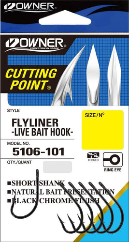 OWNER FLYLINER HOOK - 1 - Mansfield Hunting & Fishing - Products to prepare for Corona Virus