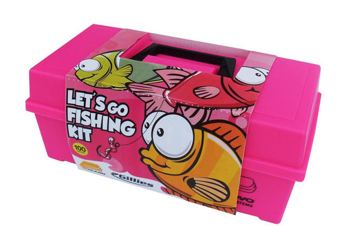 PLANO READY TO FISH TACKLE KIT - PINK -  - Mansfield Hunting & Fishing - Products to prepare for Corona Virus