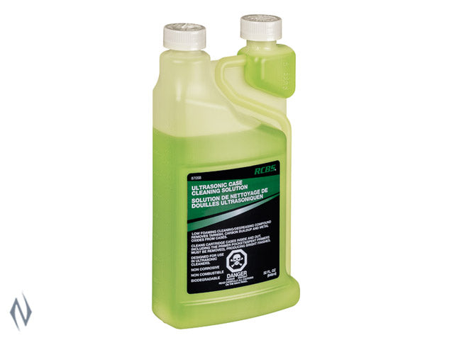 RCBS ULTRASONIC/ROTARY CASE CLEANING SOLUTION 32OZ -  - Mansfield Hunting & Fishing - Products to prepare for Corona Virus