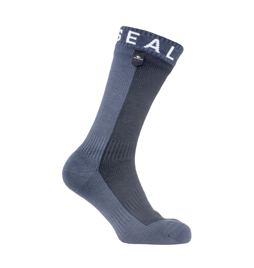 SEALSKINZ HIKING MID LENGTH SOCK - S / BLACK - Mansfield Hunting & Fishing - Products to prepare for Corona Virus