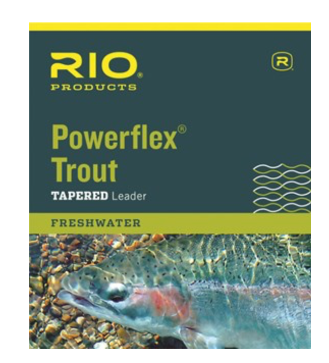 RIO POWERFLEX TROUT TAPERED LEADER 12FT - 3X - Mansfield Hunting & Fishing - Products to prepare for Corona Virus