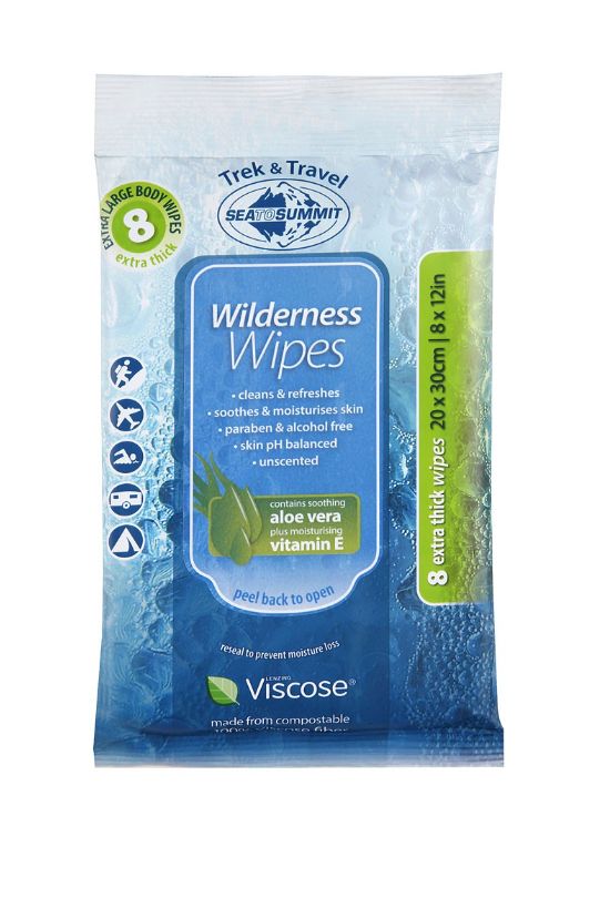 Sea To Summit Wilderness Wipes - Compact -  - Mansfield Hunting & Fishing - Products to prepare for Corona Virus