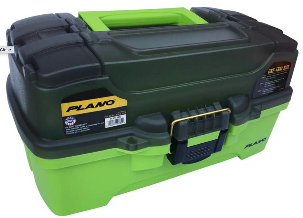 PLANO 6211 TACKLE BOX - 1 TRAY - GREEN -  - Mansfield Hunting & Fishing - Products to prepare for Corona Virus