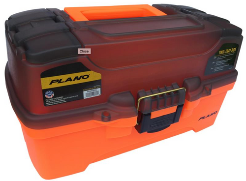 PLANO 6221 TACKLE BOX - 2 TRAY - ORANGE -  - Mansfield Hunting & Fishing - Products to prepare for Corona Virus