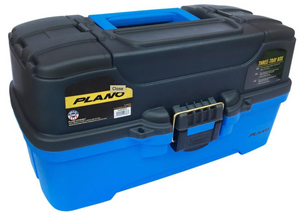 PLANO 6231 TACKLE BOX - 3 TRAY - BLUE -  - Mansfield Hunting & Fishing - Products to prepare for Corona Virus