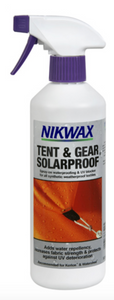 NIKWAX TENT AND GEAR SOLAR PROOF 500ML SPRAY -  - Mansfield Hunting & Fishing - Products to prepare for Corona Virus