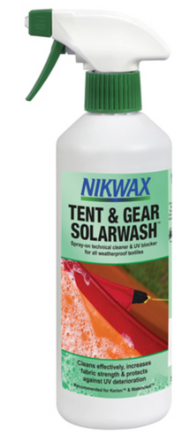 NIKWAX TENT AND GEAR SOLARWASH 500ML -  - Mansfield Hunting & Fishing - Products to prepare for Corona Virus